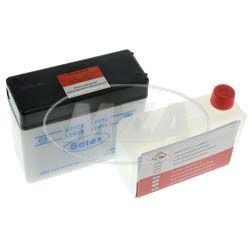 Batterie 6V 4,5 Ah SCHWALBE SOTEX mit Deckel Originalmaße (incl. SÄUREPAKETim Einzelkarton) KR51