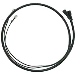 Kabel Leitungsverbinder zum Tachometer, zur Blinklichtkontrolle - schwarze Kabelummantelung - Kabelquerschnitt 0.75 mm²