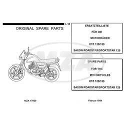 Ersatzteilliste ETZ125, ETZ150 - SAXON ROADSTAR SPORTSTAR 125 - Ausgabe 1994