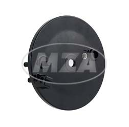 Bremsschild hinten - schwarz - mit Loch f. Bremskontakt - Vogelserie
