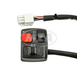 Schalterkombination links Domino 0091AA.00.01 - mit Kompaktstecker - Kabellänge 400 mm