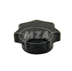 Sterngriffmutter  M6 - schwarz - lange Ausführung - ohne Druckscheibe  (10447) - MZ ES, MZ TS - auch f. Simson-Fahrzeuge verwendbar