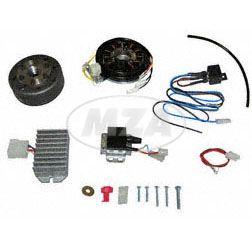 Lichtmagnetzündanlage 6V 100W Gleichstrom mit integrierter vollelektronischer Zündung für TS250 (4.Gang) und TS250/1 (5.Gang)