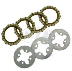 SET Kupplungsteile Regenerierung S50, KR51/1, SR4-2, SR4-3, SR4-4 - 4x Kupplungsscheibe, 3x Kupplungslamelle