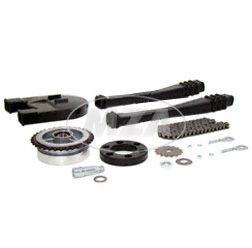 Kettenkit, Kettensatz mit Kleinteilen - S51, S53,  S70, S83 - Mitnehmer Z=34, Rollenkette 110 Glieder, Antriebskettenrad Z=15