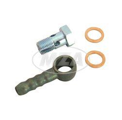Set Schlauchanschluß f. Benzinhahn 8mm (76699,73220) -  abgewinkelter Benzinschlauch-Anschluss