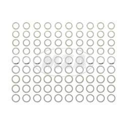 Set Ausgleichsscheiben, je 10x Stück, Gesamt: 90 Stück für Soemtron-Motor SR1, SR2, SR2E, KR50, SR4-1 Spatz - zur Kurbelwelle und Abtriebswelle - DIN 988-ST