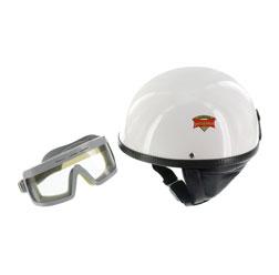"""SET Schutzhelm """"""""PERFEKT"""""""" - Modell P-500 - weiß - Größe M (57-58cm) - mit DDR-Schutzbrille """"""""SPORTURA"""""""""""