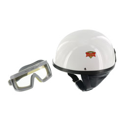 """SET Schutzhelm """"""""PERFEKT"""""""" - Modell P-500 - weiß - Größe XXL (63-64cm) - mit DDR-Schutzbrille """"""""SPORTURA"""""""""""