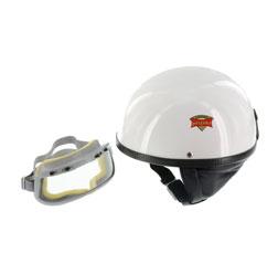 """SET Schutzhelm """"""""PERFEKT"""""""" - Modell P-500 - weiß - Größe S (55-56cm) - mit DDR-Schutzbrille """"""""START"""""""""""