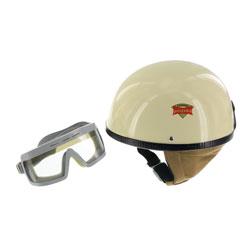 """SET Schutzhelm """"""""PERFEKT"""""""" - Modell P-500 - elfenbein - Größe M (57-58cm) - mit DDR-Schutzbrille """"""""SPORTURA"""""""""""