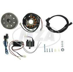 Lichtmagnetzündanlage 12V/ 180W - passend für Rennmotorrad Suzuki T500, T20, 200, 250, 350, 500, GT125