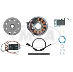 Lichtmagnetzündanlage 12V/100W DC - passend für Honda CY, CB 50 - Aushebelung elektr. Motordrosselung