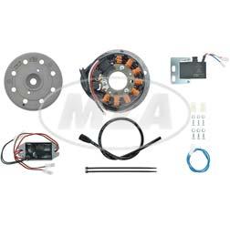 Light magneto ignition system12V 100W, fits Derbi Variant, SL, SLE, TT, Laguna, C5 Diabolo, RD50, Moto Guzzi 125 Tuttotereno