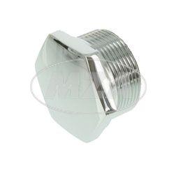 Plug screw for steer tube R35-3, chromed, fits EMW