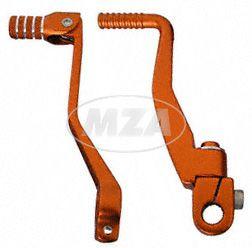SET Kickstarterhebel + klappbaren Fußschalthebel - Farbe: orange - für Enduro, Sport, Tuning