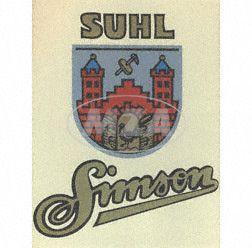 "Tin plate sign ""SIMSON SUHL"" - measurement approx. 38cmx34cm"