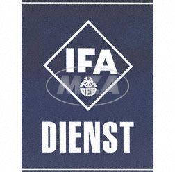 "Tin plate sign ""IFA DIENST"""