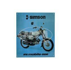 Tin plate sign - SIMSON S51E Enduro - measurement approx. 38cmx34cm