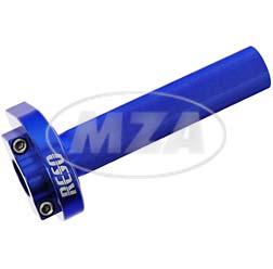 Gasgriff, CNC, Alu, blau - universell passend für Ø22mm-Lenkerrohr - Gewinde: M10x1