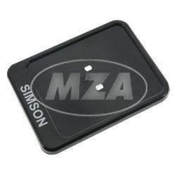 Kennzeichenhalterung, schwarz - mit Aufdruck - 167x122mm - Unterlage f. Versicherungskennzeichen/ Verstärkung