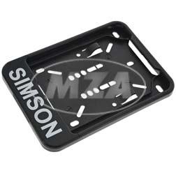 Wechsel-Kennzeichenhalterung, schwarz - mit Aufdruck - 168x122 mm