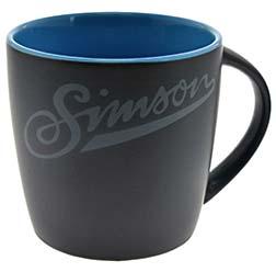 "Tasse, Farbe: matt schwarz, blau - Motiv: """"SIMSON"""""