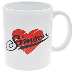 "Tasse, Farbe: weiß - Motiv: """"I love SIMSON"""""
