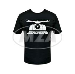 T-Shirt, Farbe: schwarz, Größe: L - Motiv: 55 Jahre Schwalbe - 100% Baumwolle