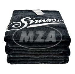 Badehandtuch, schwarz, Größe: 150 x 100cm, Motiv: SIMSON - 100% Baumwolle