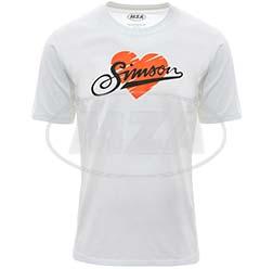 T-Shirt, Farbe: weiß, Größe: 104 - Motiv: SIMSON - 100% Baumwolle