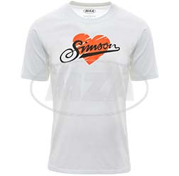T-Shirt, Farbe: weiß, Größe: 158 - Motiv: SIMSON - 100% Baumwolle