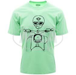T-Shirt, Farbe: NeonMint, Größe: L - Motiv: Schwalbe Kumpel - 100% Baumwolle