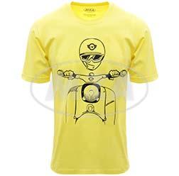 T-Shirt, Farbe: FrozenYellow, Größe: M - Motiv: Schwalbe Kumpel - 100% Baumwolle