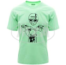 T-Shirt, Farbe: NeonMint, Größe: XS - Motiv: S51 Kumpel - 100% Baumwolle