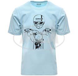 T-Shirt, Farbe: OceanBlue, Größe: S - Motiv: S51 Kumpel - 100% Baumwolle