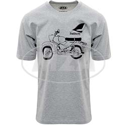 T-Shirt, Farbe: hellgrau meliert, Größe: XXXL - Motiv: Habicht Basic - 100% Baumwolle