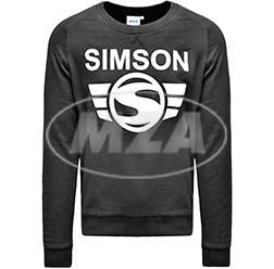 Herren-Sweatshirt, schwarz, Größe: S - Motiv: SIMSON - 100% Baumwolle