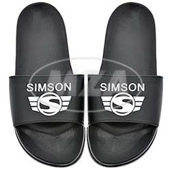 Badeschuhe, schwarz, Größe: 44/46 - Motiv: SIMSON