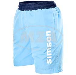 Badehose, hellblau, Größe: L - Motiv: SIMSON - 100% Polyester