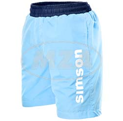 Badehose, hellblau, Größe: XXL - Motiv: SIMSON - 100% Polyester