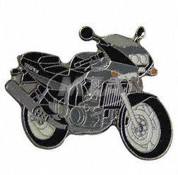 PIN Motorrad Skorpion schwarz/grau