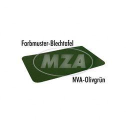 Farbmuster auf Blech Leifalit (Premium) NVA olivgrün matt für MZ