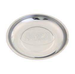 Kleinteilschale, Ø150mm, magnetisch, aus rostfreiem Stahl, Fuß gummiert - Ideal für Schrauben, Muttern, Kleinteile, Arbeiten am Vergaser usw.