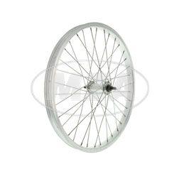"""Rueda 1,20x16"""" - llanta aluminio colores naturales + cubo de rueda en aluminio, radios galvanizado abrillante y reforzado - por ejemple para remolque para ciclomotor"""