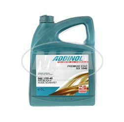 ADDINOL PREMIUM STAR MX 1408, diesel engine oil, SAE 10W-40,  semi-synthetic, 5 l canister