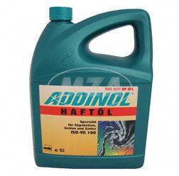 Alternativ zu Kettenspray, kostengünstig, effektiv und  STARK haftend :  ADDINOL Haftöl 100, Kettenhaftöl,  mineralisch, 5L Kanister